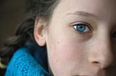 Girl looking at camera, close-up