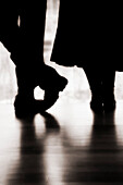 Silhouettes of Couple Standing