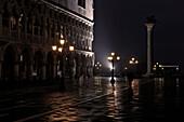 Piazzetta, San Giorgio Maggiore, flood water, Aqua Alta, Venice, Italy