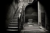 Staircase, patio, Venice, Italy