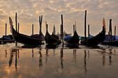 Gondola, Aqua Alta, San Giorgio, Venice, Veneto, Italy