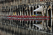 Reflection, Piazza San Marco, flood water, Aqua Alta, Venice, Italy