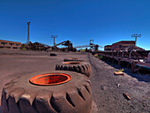 Old mining equipment and conveyour belts, Minas de Alquife, Andalusia, Spain