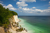 Chalk cliffs at the coast, Ruegen island, Jasmund National Park, Baltic Sea, Mecklenburg-West Pomerania, Germany, Europe