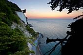 Chalk cliffs in dawn, Jasmund National Park, Ruegen island, Mecklenburg-Western Pomerania, Germany