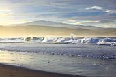 Evening, evening mood, Coldbackie, Coldbackie Bay cliff, rock, body of water