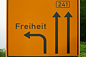 Guidepost, Freiheit, Osterode am Harz, Harz mountains, Lower Saxony, Germany