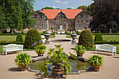 Small castle with baroque garden, Blankenburg, Harz mountains, Saxony-Anhalt, Germany