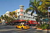 US, Florida, Miami Beach, Ocean drive, Art Deco facades