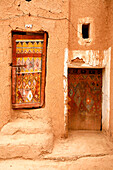 Africa, Maghreb, North africa,Morocco, Guelmim (Goulimine), kasbah of Tighmert, old door