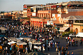 Africa, Maghreb, North africa,Morocco, Marrakech, Jemaa El Fna square (UNESCO world heritage)