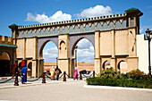Africa, Maghreb, North africa,Morocco, Meknes, Moulay Ismail mausolee gate (Unesco world Heritage)