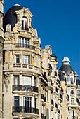 France, Paris, building façade