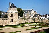 France, Bretagne, Morbihan, Vannes, Connetable tower and ramparts
