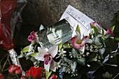 France, Paris, Jim Morrisson's grave at Père Lachaise cemetery