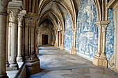 The Gothic cloister. The Cathedral (Sé) began being built around 1110 under bishop Hugo, before the birth of Portugal as kingdom. Porto city. Porto e Norte region. Portugal