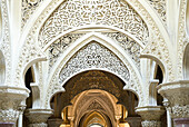 The romantic Monserrrate palace was built in 1858 on the initiative of Francis Cook, Viscount Monserrate. It is one of the most interesting examples of Sintra Romanticism. A work in the Romantic-Orientalist spirit, with its great circular tower, bulbous c