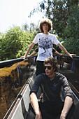US, California, Sand Diego zoo, two teenagers