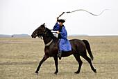 Hungary, Hortobágy, traditional csikós horseman