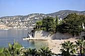 France, Provence, Côte d'Azur, Cap Ferrat, Plage de Passable beach