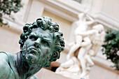 France, Paris, Louvre museum, statue by Martin Van Den Bogaert