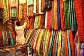 YEMEN, SANAA, Cloth market in sanaa