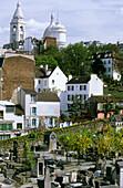 France, Paris, Montmartre, Sacred Heart basilica, St Vincent cemetery