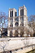 France, Paris, Notre-Dame cathedral, general view