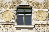 Autriche, Vienne, Apartment Building on Linke Wienzeile by Otto Wagner