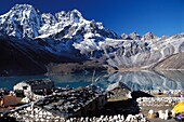 Népal, Solo Khumbu, Lake in the Himalayas