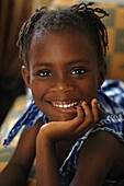 Sénégal, Dakar, Smiling girl