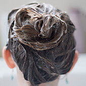 Close-up of Girl's Soapy Hair