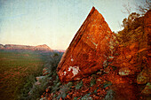 Jagged Rock in Desert, Sedona, Arizona, USA