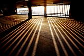 Light Pattern on Floor of Parking Garage