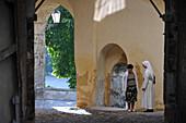 Nun at the Cathedral St. Emeran, Nitra, western Slovakia, Europe