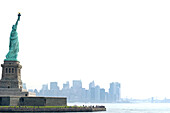 Statue of Liberty and Manhattan Skyline, Unesco World Cultural Heritage, New York, USA