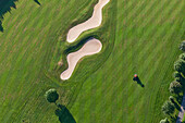 Aerial view of golf course Hillesheim, Eifel, Rhineland Palatinate, Germany, Europe