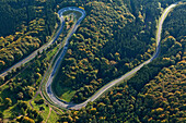 Aerial view of the race course Nuerburgring, rural district of Ahrweiler, Eifel, Rhineland Palatinate, Germany, Europe