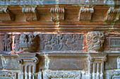Relief at the West portal, Enclos paroissial at Guimiliau, Finistere, Bretagne, France, Europe