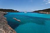 Cala Mondrago, Cala S Amarador, bay, Parc Natural de Mondrago, natural preserve, Mallorca, Balearic Islands, Spain, Europe