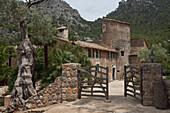 Exterior view of Finca Balitx d´Avall, Tramuntana mountains, Mallorca, Balearic Islands, Spain, Europe