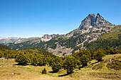 Pic du Midi d'Ossau, Ossau Valley, French Pyrenees, Pyrenees-Atlantiques, Aquitaine, France