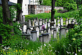 Remuh cemetery in the Jewish quarter Kazimierz, Krakow, Poland, Europe