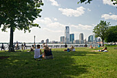 View from Battery Park onto New Jersey, Manhattan, New York, USA, America