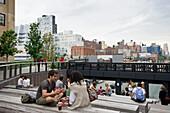 Urban theater, High Line Park, Meatpacking District, Manhattan, New York City, New York, USA