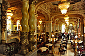 Interior view of the cafe at a Hotel, Budapest, Hungary, Europe