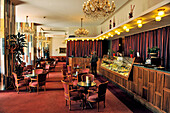 Cafe inside of Hotel Gellert, Budapest, Hungary, Europe
