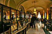 Interior view of the Cafe Gerbeaud, Budapest, Hungary, Europe