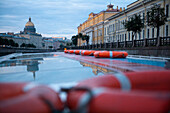Sightseeing boat on canal, St. Petersburg, Russia