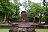 13th century Khmer temple ruins at Muang Singh Historical Park, near Kanchanaburi, Thailand